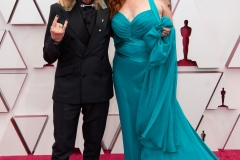 Oscar® nominee Paul Raci and Elizabeth Hanley arrive on the red carpet of The 93rd Oscars® at Union Station in Los Angeles, CA on Sunday, April 25, 2021.