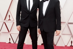 Oscar® nominees Atticus Ross and Trent Reznor arrive on the red carpet of The 93rd Oscars® at Union Station in Los Angeles, CA on Sunday, April 25, 2021.