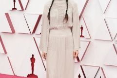 Oscar® nominee Chloé Zhao arrives on the red carpet of The 93rd Oscars® at Union Station in Los Angeles, CA on Sunday, April 25, 2021.