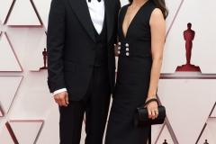 Oscar® nominee Steven Yeun and Joana Pak arrive on the red carpet of The 93rd Oscars® at Union Station in Los Angeles, CA on Sunday, April 25, 2021.
