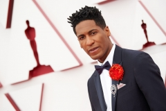 Oscar® nominee Jon Batiste arrives on the red carpet of The 93rd Oscars® at Union Station in Los Angeles, CA on Sunday, April 25, 2021.