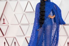 Oscar® nominees H.E.R. arrives on the red carpet of The 93rd Oscars® at Union Station in Los Angeles, CA on Sunday, April 25, 2021.