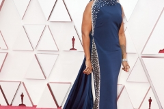 Oscar® nominees Mia Neal arrives on the red carpet of The 93rd Oscars® at Union Station in Los Angeles, CA on Sunday, April 25, 2021.