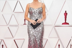 Margot Robbie arrives on the red carpet of The 93rd Oscars® at Union Station in Los Angeles, CA on Sunday, April 25, 2021.